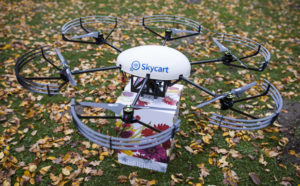 Blumen per Drohne