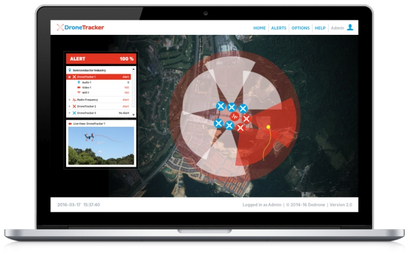 DroneTracker Software V2 (Bild: DeDrone)