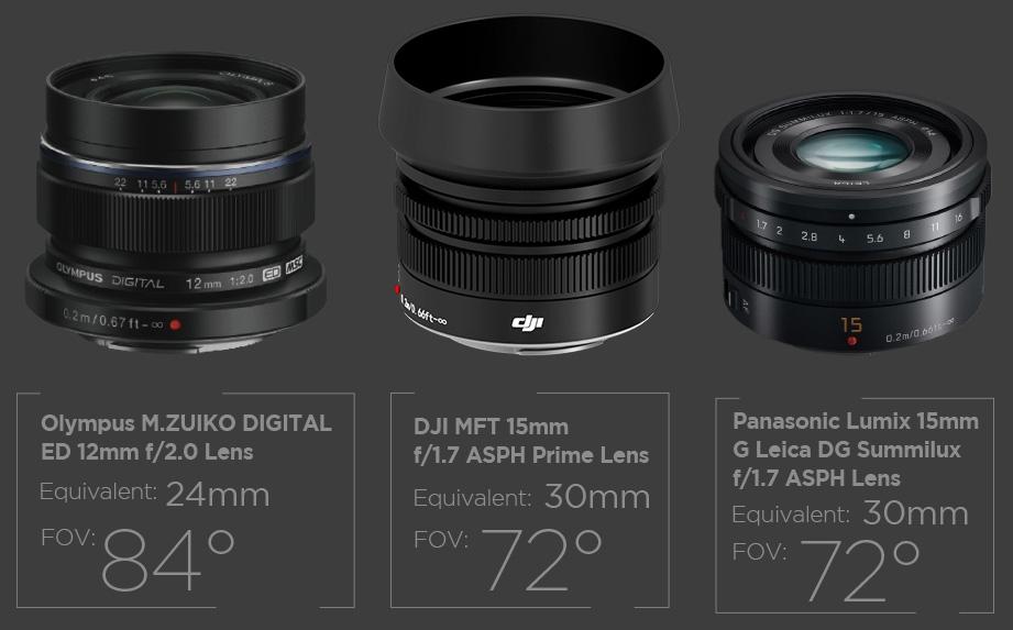 Als weltweit erste MFT-Kamera, die eigens für Luftbild- und Videoaufnahmen entwickelt wurde, hat man mit der Zenmuse X5R die Möglichkeit, Wechselobjektive zu verwenden.