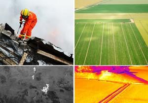 Wärmebildaufnahmen aus der Luft - Suchaktion oder Rettungsaktion