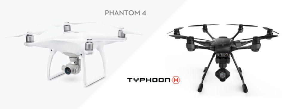Vergleich DJI Phantom 4 vs. Yuneec Typhoon H