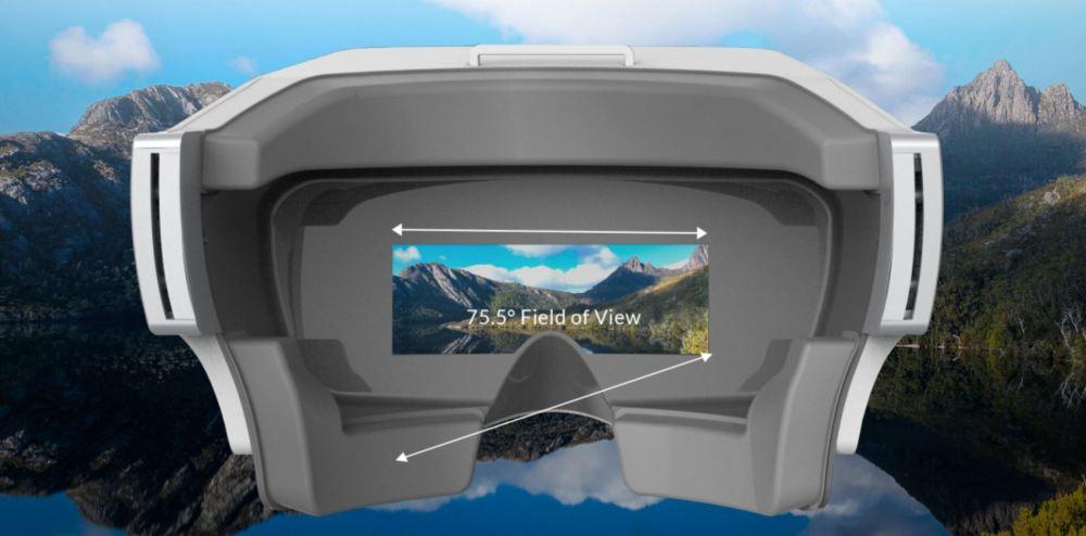 SkyView bietet ein Sichtfeld von 75,5° im Bildformat von 16:9. Atemberaubende und lebensnahe Videos sind damit garantiert.